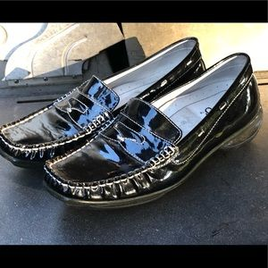 Asgi Soleplex Black Suede Absorb Slip On Shoes